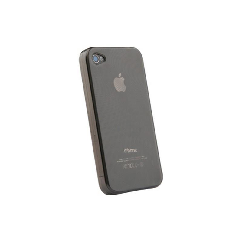 iphone 4 4s naztech wave silicon tasche durchsichtig smoke. Black Bedroom Furniture Sets. Home Design Ideas